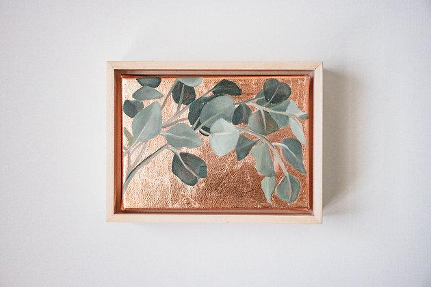 Eucalyptus Sprigs | Horizontal Embellished Print