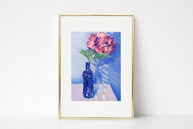 Hydrangeas in Blue Limited Edition Print