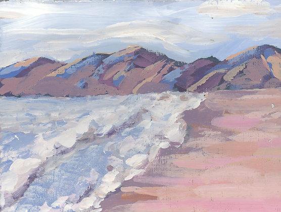Coastal Blush   Landscape Canvas Print