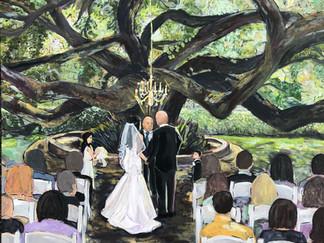 Live Wedding Painting in Covington, LA