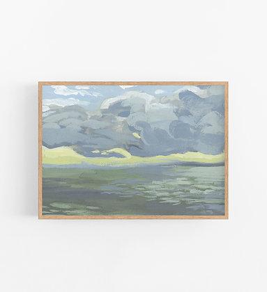 Cloudy Seascape   Landscape Canvas Print