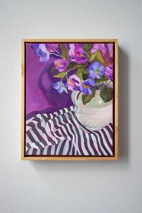 Purple on Stripes