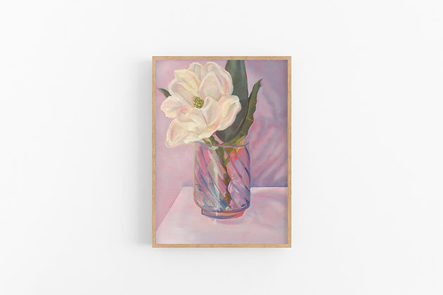 Magnolia in Pink   Canvas Print