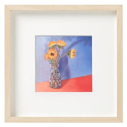 Sunflowers on Orange Limited Edition Print