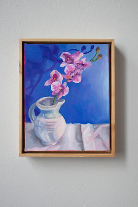 Orchids on Blue