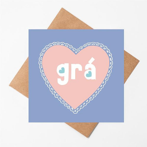 Love Handmade Irish card - Grá