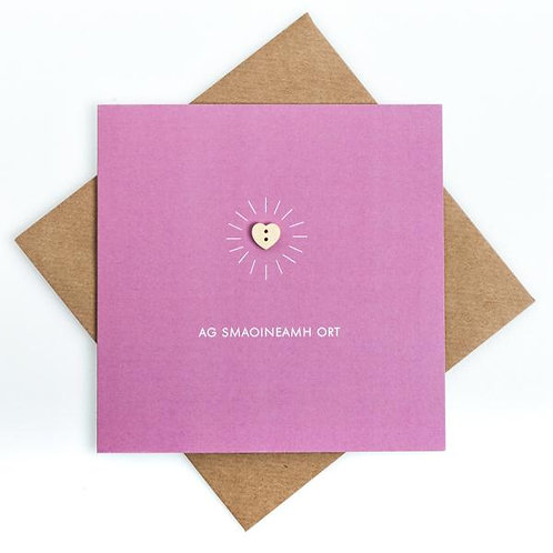 Irish Thinking of You Craft Card -Ag Smaoineamh Ort