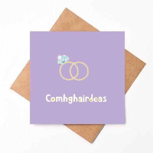 Congratulations Handmade Irish Wedding Card - Comhghairdeas