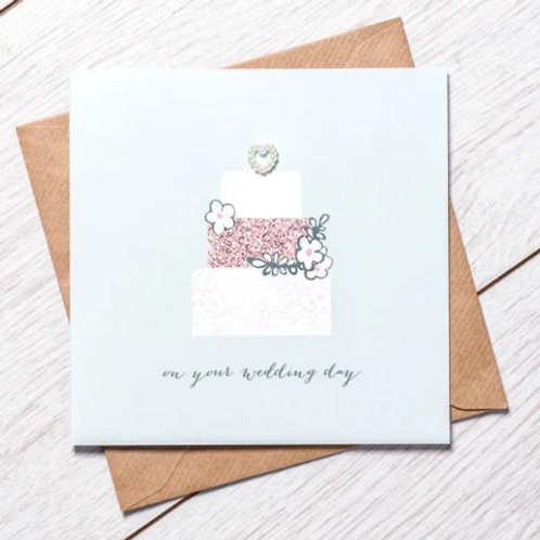 On Your Wedding Day Cake Card