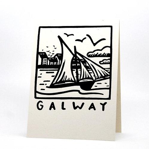 Galway Lino Print Card