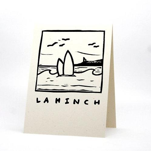 Lahinch Lino Print Card