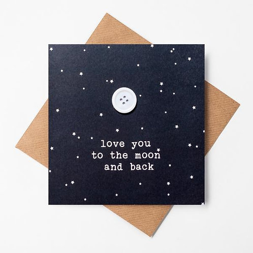 Love You To the Moon and Back Craft Card