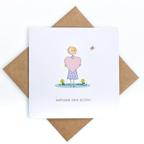 Wonderful Mother Handmade Irish card - Máthair den scoth