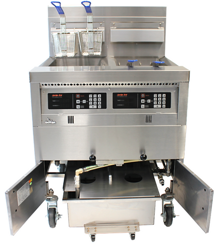 Fryer with built in filtration
