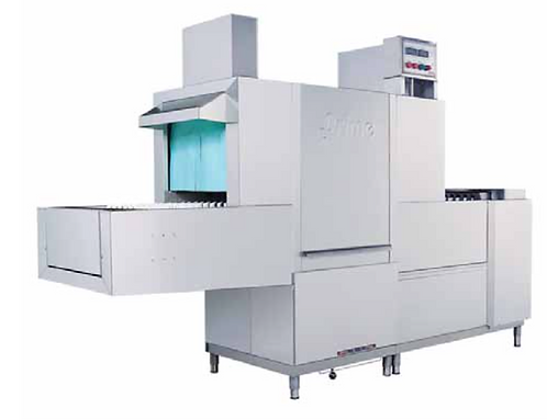 Flight conveyor dishwasher