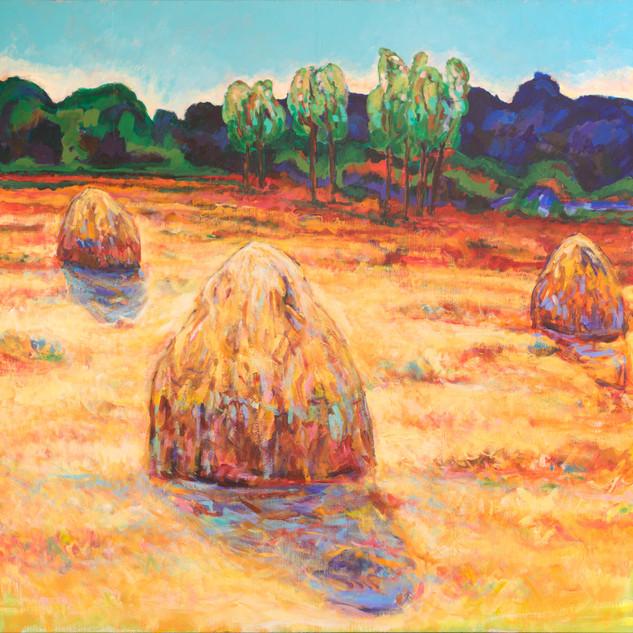 Autumn Haystacks