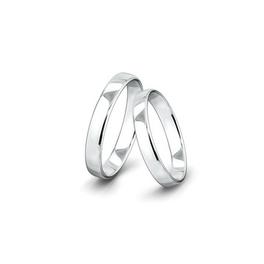 Kívül és belül is domború felületű fehérarany jegygyűrűpár (4 mm)