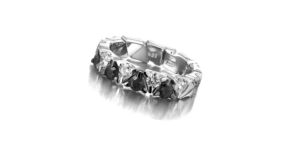 Garavelli fekete-fehér gyémánt gyűrű