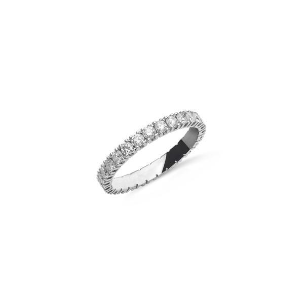 """Fehérarany körben gyémántos """"eternity"""" gyűrű gyémántokkal"""