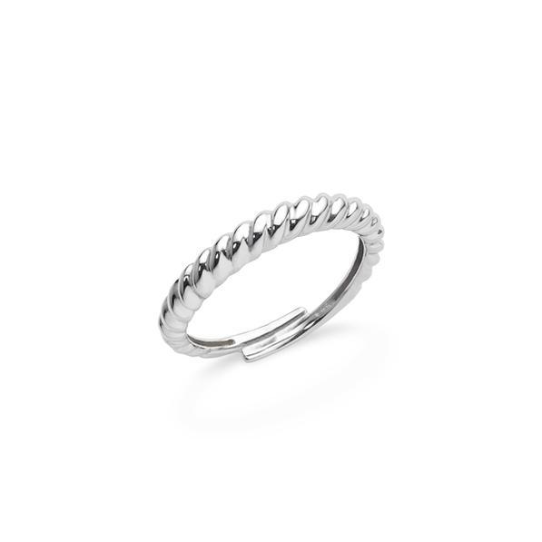 Cervera 18kt-os fehérarany csavart karikagyűrű
