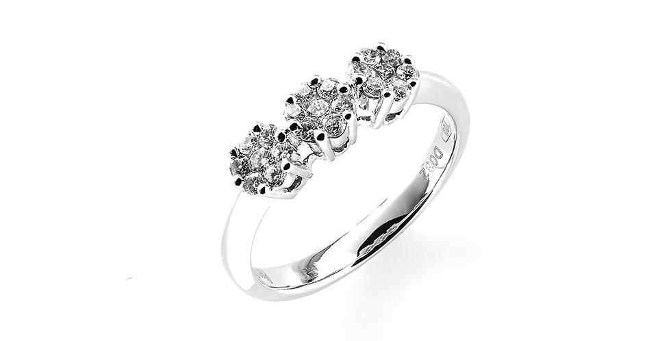 Piero Milano hétköves gyémánt gyűrű fehérarany foglalatban