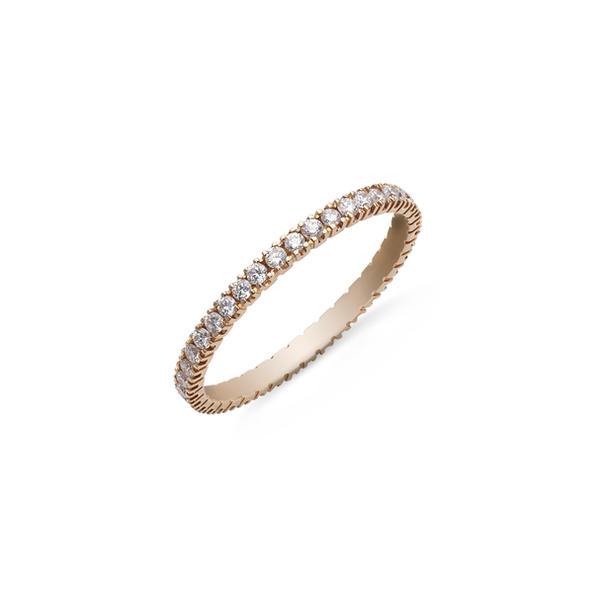 """Körben gyémántos """"eternity"""" gyűrű 18kt-os rózsaaranyból"""