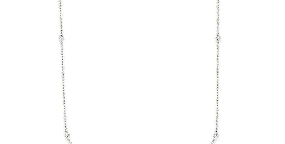 Fehérarany nyaklánc kilenc darab gyémánttal ékesítve