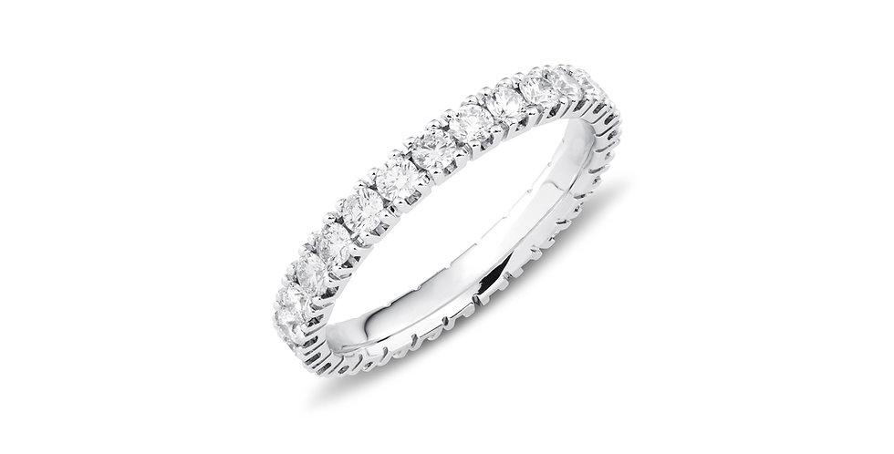 """Fehérarany """"eternity"""" körben köves gyémánt gyűrű"""