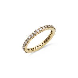 Garavelli 18kt-os sárgaarany körben gyémántos karikagyűrű
