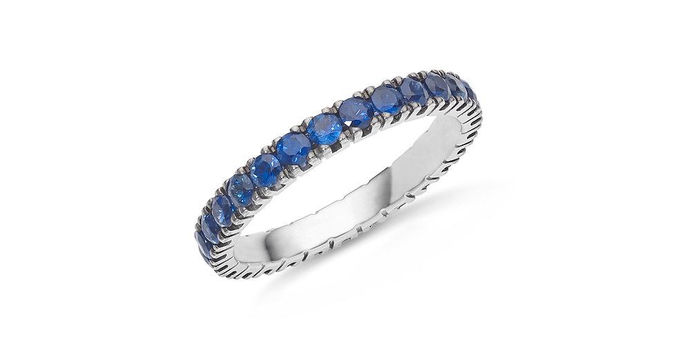 """Fehérarany """"eternity"""" körben köves gyűrű kék zafírokkal"""