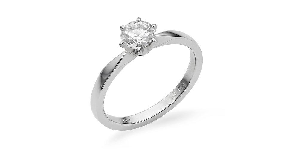 Fehérarany hatkarmos szoliter gyémánt gyűrű