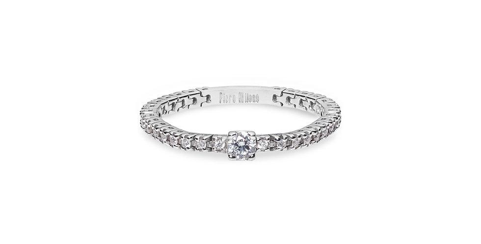Fehérarany körben gyémántos flexibilis szoliter gyűrű
