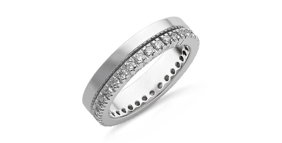Garavelli fehérarany dupla karikagyűrű gyémántokkal