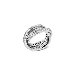 """Garavelli körben gyémántos """"trinity"""" gyűrű"""