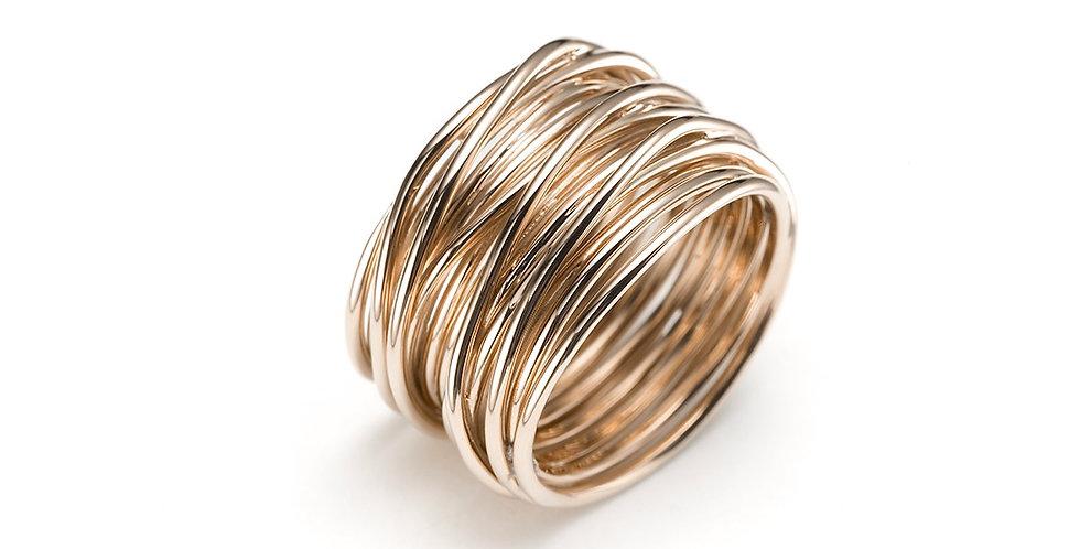 Mattioli rózsaarany olasz dizájn gyűrű