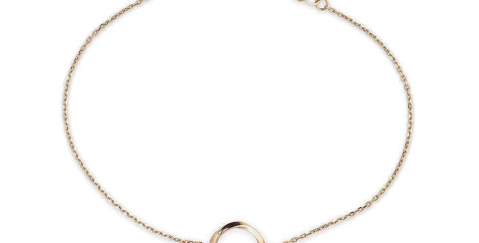 18kt-os rózsaarany lánc karkötő champagne (pezsgőszínű) gyémánttal