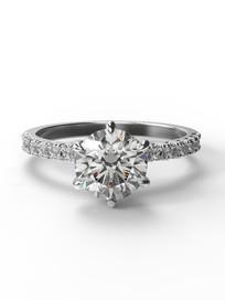 Gyémánt szoliter gyűrű fotrealisztikus terve 1. nézet