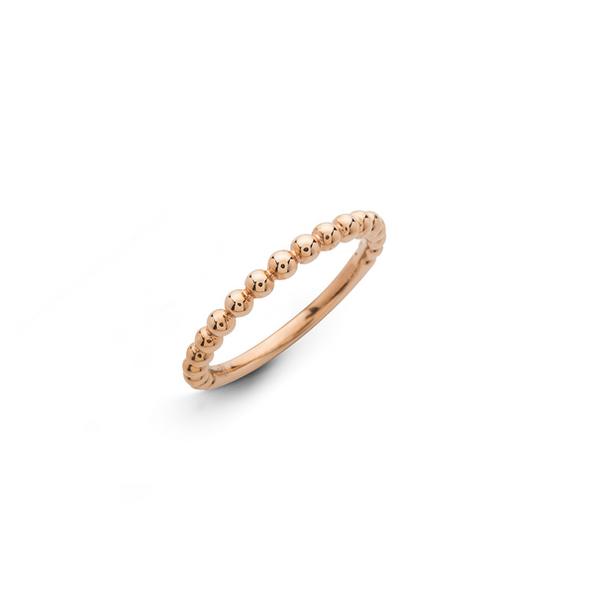 Hulchi Belluni 18kt-os rózsaarany bogyós karikagyűrű