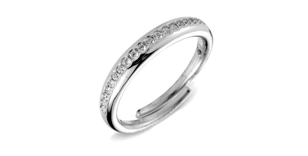 Cervera 18kt fehérarany karikagyűrű gyémántokkal