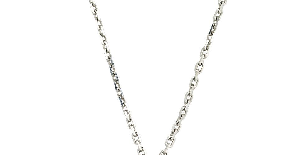 Fehérarany nyaklánc 0,10 ct gyémánt medállal zárt foglalatban