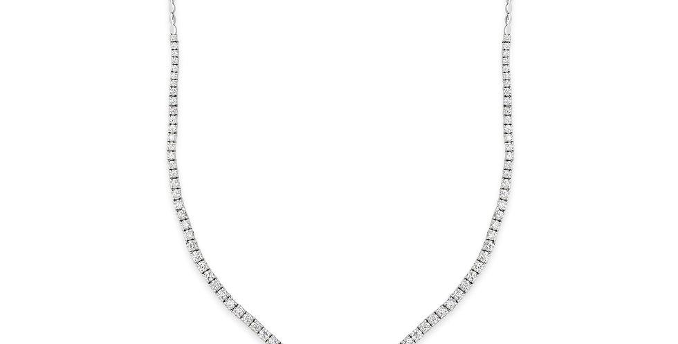 Exkluzív gyémánt nyakék 18kt-os fehérarany foglalatban