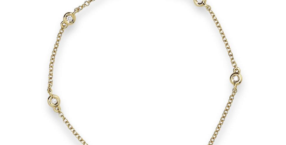 Piero Milano sárgaarany karlánc gyémántokkal