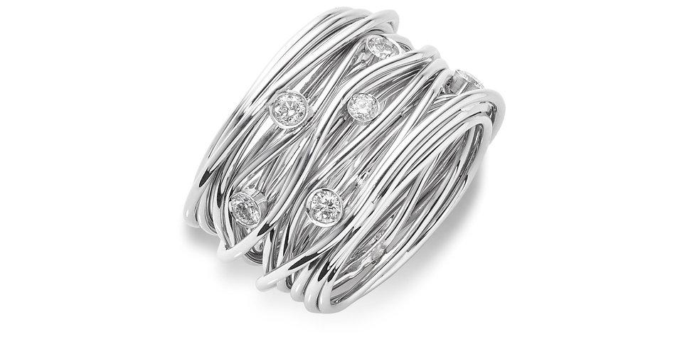 Mattioli fehérarany  exkluzív dizájn gyűrű gyémántokkal