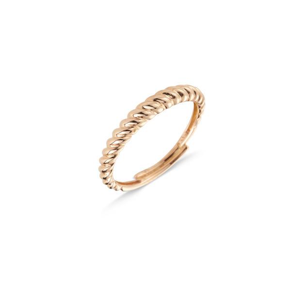 Cervera 18kt-os rózsaarany csavart karikagyűrű