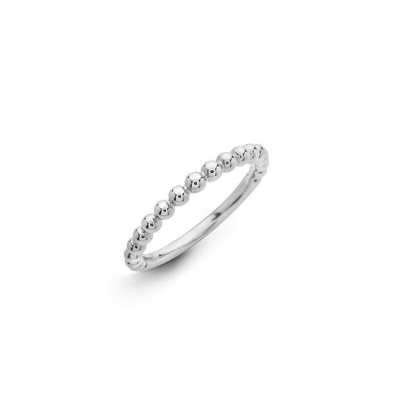 Hulchi Belluni 18kt-os fehérarany bogyós karikagyűrű