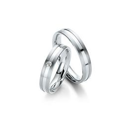 Fehérarany matt-fényes csíkozott hatású karikagyűrű