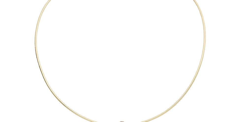 Garavelli 18kt-os sárgaarany virág medál gyémánttal