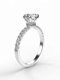 Gyémánt szoliter gyűrű fotrealisztikus terve 2. nézet