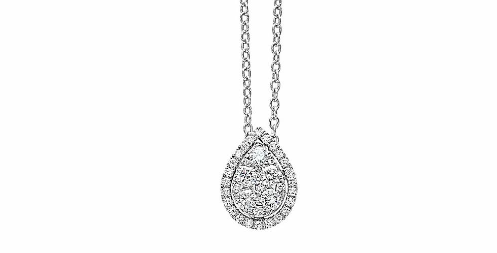 Piero Milano csepp alakú gyémánt medál fehérarany nyakláncon