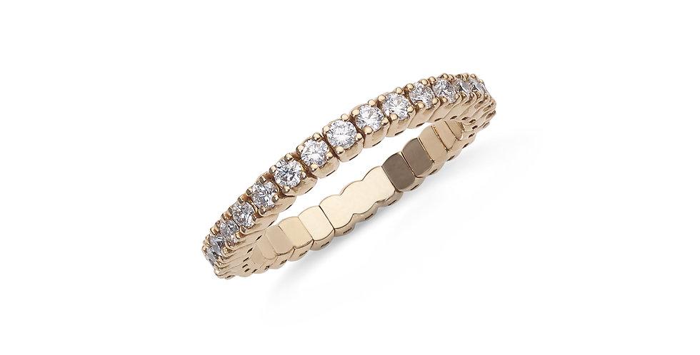 """Rózsaarany """"eternity"""" félig köves gyűrű fehér gyémántokkal"""